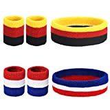 ZERHOK Bracelets Poignet Serre-Poignets, Bracelets éponge Sport,Bandeau Running pour Absorption...