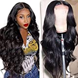 Healthair Lace Front Wigs Human Hair Body Wave Wigs 4×4 Lace Closure Wigs Human Hair Lace Wigs for Black Women Brazilian Virgin Hair Glueless Body Wave Wig(12' Wig)