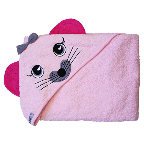 Hooded Towel Absorbent,Pink Mouse Extra Large 40'X 30' by Frenchie Mini Couture…