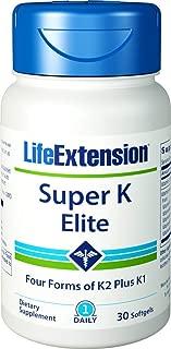 Life Extension Super K Elite - Complete K Formula for Healthy Bones, Arteries 30 Softgels
