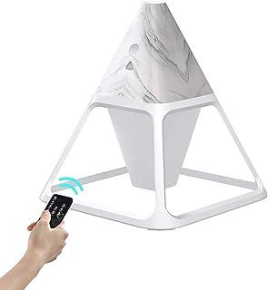 PECHTY Mini-cone-vormige luchtbevochtiger, 3-kleurig led-nachtlampje, luchtbevochtiger met afstandsbediening, 140 ml visue...