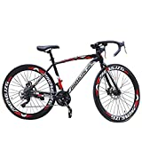 LYBOHO Outdoor Road Bike Mountain Bike for Men Women, Commuters Aluminum Full Suspension Road Bike...