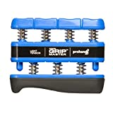 PROHANDS Gripmaster Hand Exerciser, Finger Exerciser (Hand Grip Strengthener), Spring-Loaded, Finger-Piston System, Isolate and Exercise Each Finger, (5 lb Light Tension, Blue-Gripmaster)