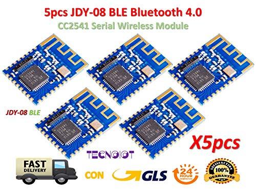 TECNOIOT 5pcs JDY-08 BLE Bluetooth 4.0 Uart Transceiver Module CC2541 Wireless iBeacon