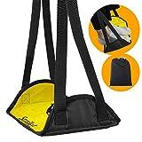 Bonipe - Reposapiés para avión, diseño de emoticono, color amarillo y sonrisa, accesorios de viaje para avión, oficina, hogar, piernas, hamacas debajo del escritorio con altura ajustable