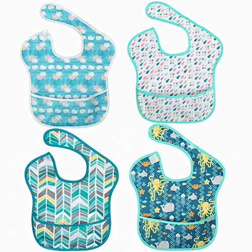 Baberos bebé, unisex, impermeables, lavables, absorbentes
