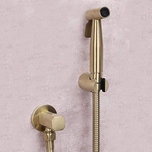 Kraan kraan kraan hand gehouden wc Bidet sproeier geborsteld goud roestvrij staal Bidet Jet Douche Kit kraan wc wasmachine schoonmaken