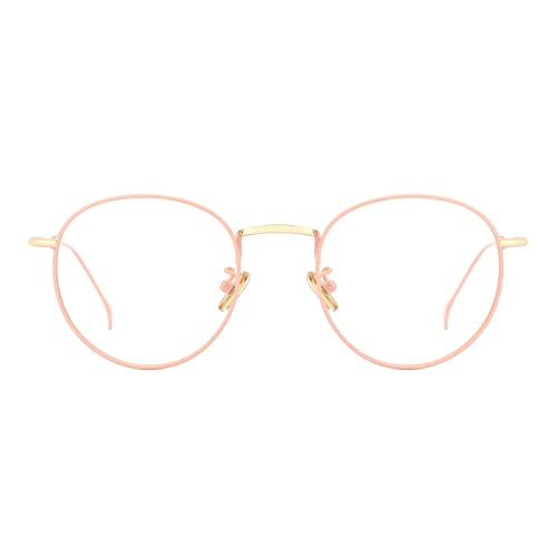 6a0aaddd6ae TIJN Women Metal Circle Eyeglasses Fashion Full Rim Round Thin Artist  Frame-Henk