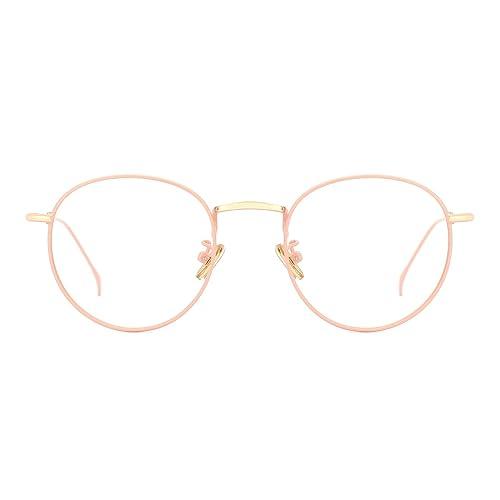 393047d171 TIJN Women Metal Circle Eyeglasses Fashion Full Rim Round Thin Artist Frame -Henk