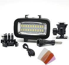 WXS Relleno De Buceo Luz De Alta Potencia Regulable LED Impermeable Luz De Vídeo Completo De Buceo Bajo El Agua La Noche Luz 131Ft Impermeable Ligero (40M) para Gopro Héroe Héroe 8 7/4 / 4S / SJCAM
