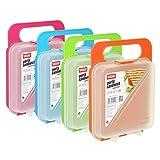 TATAY 1167101 - Portasandwich - Porta bocadillos para pan de molde reutilizable, libre de BPA, apto para microondas, congelador y lavavajillas, 1 unidad, colores surtidos