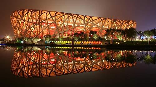 KCHUEAN Puzzle 1000 Stück Kreativität DIY Puzzles Stellen Sie Sich Spielzeug Beijing National Stadium Holz Montage Dekoration Für Das Heimspielzeug Spiel Lernspielzeug Für Kinder Und Erwachsene