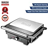 Inalsa Super Jumbo Max-grill 2000-Watt Sandwich Maker/Contact Grill with Temperature Controller and LED