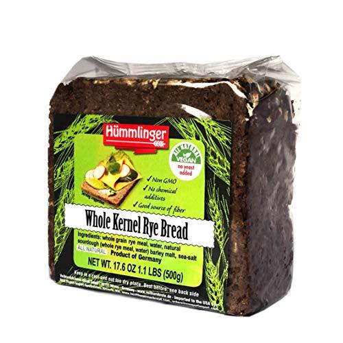 Whole Kernel Rye Bread, Hummlinger No Yeast Added 17.6oz (6 packages)