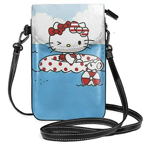 Damen Umhängetaschen Hallo Kitty Pool Zeit Kleine Handy Geldbörse Brieftasche Mit Kreditkartenfächern