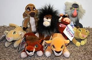 Rare Disney Lion King Set of 8 Plush Bean Bag Dolls Including Scar, Timon, Nala, Simba, Pumbaa, Kovu, and Kiara Mint with Tags
