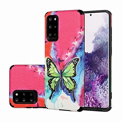 Funda para Samsung Galaxy 02S, a prueba de golpes, de piel fina, de plástico de policarbonato duro con borde de silicona suave, protector de espalda antiarañazos, para Samsung Galaxy 02S mariposa