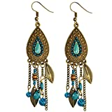 Bead Tassel Earrings Women Vintage Retro Ethnic Drop Bohemian Dangle Earring Lolita Antique