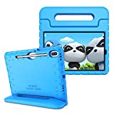 Fintie Shockproof Case for Samsung Galaxy Tab S6 10.5' 2019 (Model SM-T860/T865/T867), Kiddie Series Light Weight Convertible Handle Stand Kids Friendly Cover with Built-in S Pen Holder, Blue