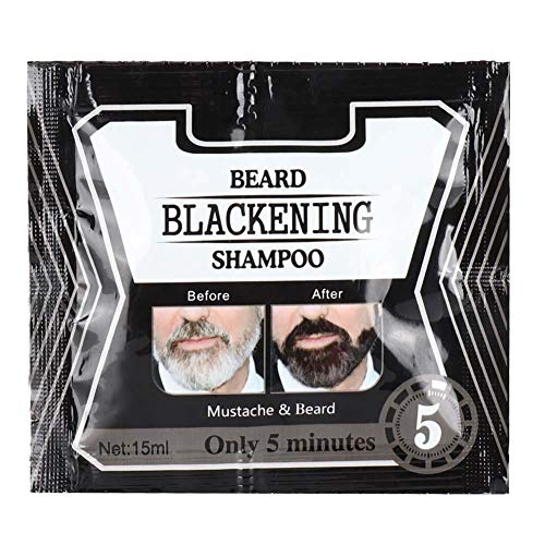 5 piezas de champú para lavar la barba, ennegrecimiento, limpieza profunda para hombres, champú para lavar la barba para restaurar la vitalidad, líquido limpiador hidratante para la barba(75ML)