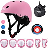 AODI Kids Protective Gear Set for 3-8 Years, Adjustable Helmet Knee Elbow Pads Wrist Guards for Multi-Sports Cycling Bicycling Skateboard Bike Scooter Rollerblading (7 Piece Set)