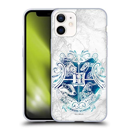 Head Hülle Designs Offiziell Offizielle Harry Potter Hogwarts Aguamenti Deathly Hallows IX Soft Gel Handyhülle Hülle kompatibel mit Apple iPhone 12 Mini