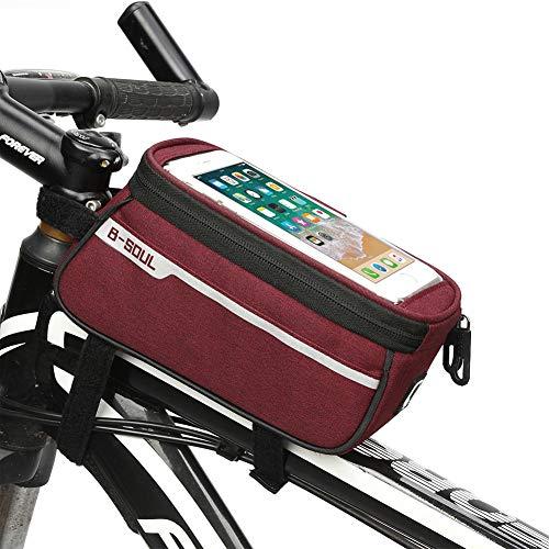 ZYBC - Bolsa para bicicleta (impermeable, para smartphones de hasta 6 pulgadas), Re.