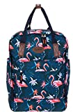 Spear Rucksack Freizeitrucksack Skore A4 Damenrucksack Damen Tasche groß 12735 Wahl +s (12735 Dunkelblau Flamingo)