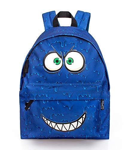 Di&Gi Zaino Scuola Americano Expression scary Blue Cm. 43x33x13