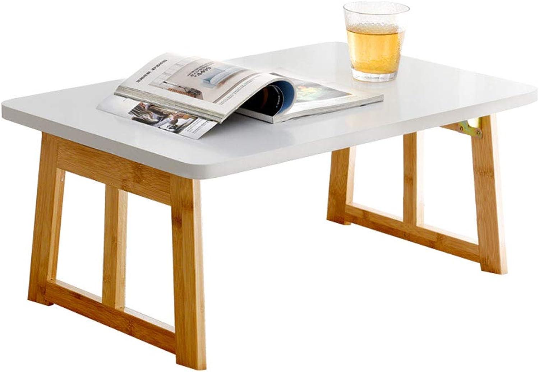 ZXW Folding Table White Foldable Computer Desk, Home Dormitory Student Study Desk (color   White, Size   60x40x26cm)