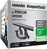 Rameder Komplettsatz, Anhängerkupplung abnehmbar + 13pol Elektrik für Porsche Cayenne (137235-08741-1)