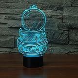 Novedad Drum Set Building 3D LED Night Light USB Lámpara de mesa Niños regalo de cumpleaños Decoración del hogar de cabecera