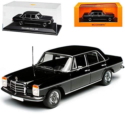 Minichamps Mercedes-Benz 200 /8 Strich Acht Limousine Schwarz W114 W115 1967-1976 1/43 Modell Auto