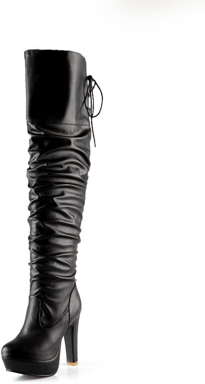 AdeeSu Womens Platform Fashion Slip-Resistant Urethane Boots SXC02149
