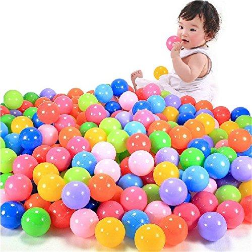 Single 100pcs/200pcs Pelotas de Colores Pelotas para Juegos/Piscina plástico Pelotas niños Juguetes de los Oceano Bolas (100pcs Play Balls)