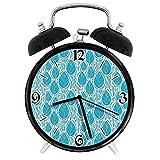 ストライプのグランジシェードスプリング付きの絶妙な目覚まし時計の葉オフィスの寝室の研究に適しています