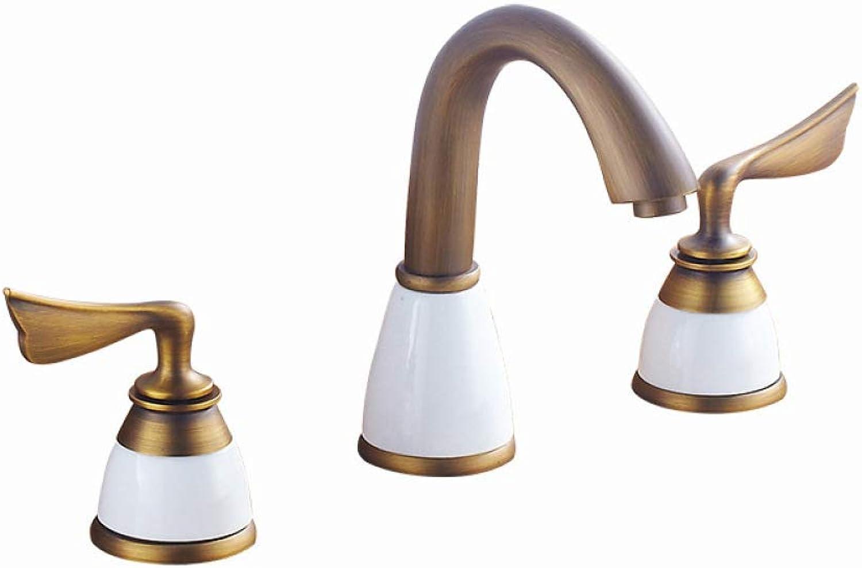 LPW faucet split three holes faucet washbasin faucet hot double separation basin faucet copper European