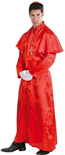 Mens Red Cardinal Priest Religious Pope Holy Father Stag Do Fancy Dress Costume
