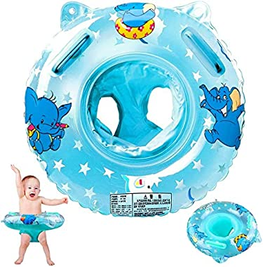 Walsai Baby Swimming Float, Inflatable Swimming Ring with Float Seat for 6 Months-6 Years Children (Blue)
