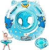 Stillcool flotadores bebe, anillo de natación para bebé, anillo flotador bebe, anillo de natación asient, lindo patrón natación inflable flotador para niños entre 6-36 meses (azul)