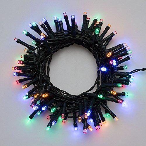 LuminalPark LED-Lichterkette 7,20 m, 180 LEDs Multicolor, batteriebetrieben, Zeitschaltuhr 6/18, mit Lichtspielen, Weihnachtsbeleuchtung, Weihnachtslichterkette, Weihnachtsbaumbeleuchtung