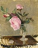AMANUO Berthe Morisot Impresiones Pinturas Famosas sobre Lienzo Naturaleza Muerta 45X60 cm Cuadros Enrollada - Peonías 1869