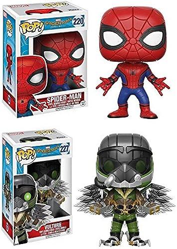 Funko POP  Spider-Man Homecoming  Spider-Man + The Vulture - Marvel Vinyl Bobble-Head Figure Set NEW