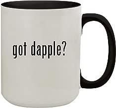 got dapple? - 15oz Colored Inner & Handle Ceramic Coffee Mug, Black