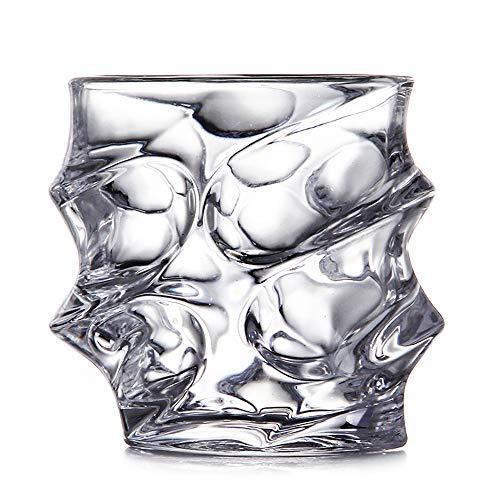 ChengBeautiful Vaso De Whisky De Cristal Cristal de Vino del Vidrio de Cristal de Whisky de Cristal Copa de Brandy del Vidrio de Cerveza del Espacio Copa de Vino (Color : White, Size : One Size)