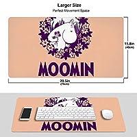 Moomin ムーミン マウスパッド 超大型 光学マウス対応 パソコン 周辺機器 防水 洗える 滑り止め 高級感 耐久性が良い 40x75cm