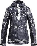 DC Envy Anorak Snowboard Jacket Womens Sz M Black Mud Cloth Print