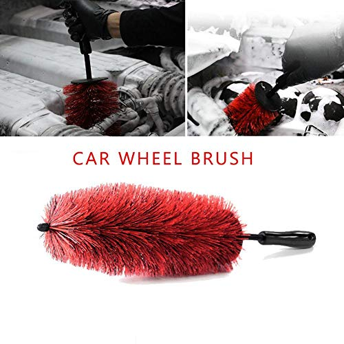 YVUYVJH - Spazzola per la pulizia dei cerchioni dell'auto, spazzola da motore, spazzola per la pulizia dei dettagli, super morbida, per auto, moto o b