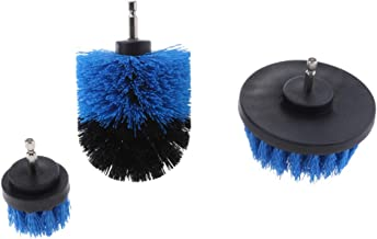 HOMYL 3Pc/Set Tile Grout Power Scrubber Cleaning Drill Brush Tub Rotary Combo Tool - Blue