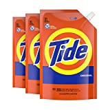 Tide Liquid Laundry Detergent Soap Pouches, High Efficiency (HE), Original Scent, 93 Total Loads (Pack of 3)